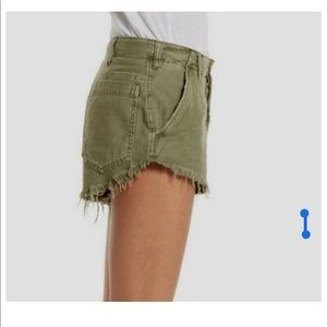 Free People Shorts - Free People High Rise Button Front Cut-Offs
